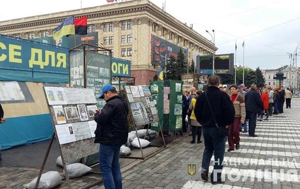 Полиция Харькова взяла палатку волонтеров под круглосуточную охрану