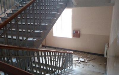 В школе Харькова обвалился потолок