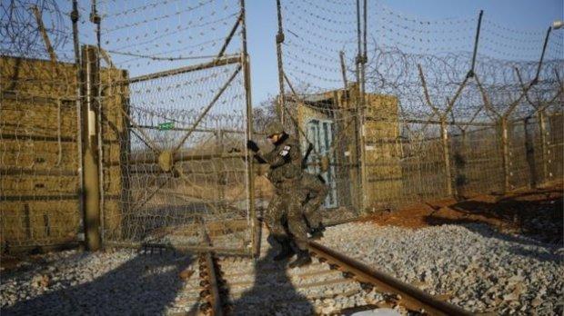 Историческое событие: впервые за 10 лет поезд из Южной Кореи пересек границу с КНДР
