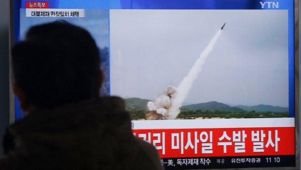 КНДР произвела запуск ракеты малой дальности