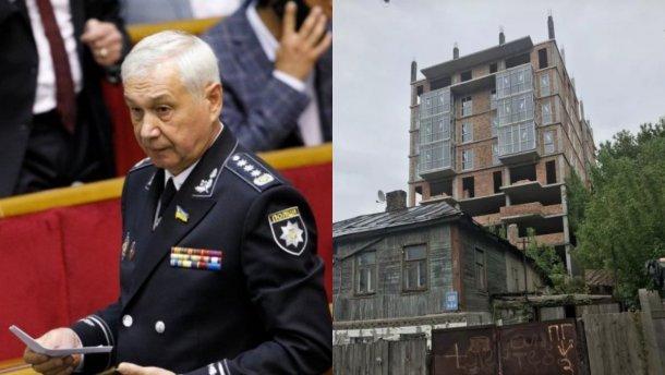 На участке нардепа в исторической местности Киева незаконно строят высотку: фото