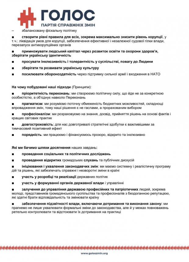 Вакарчук представил свою партию Голос